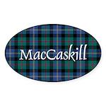 Tartan - MacCaskill Sticker (Oval 10 pk)