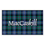 Tartan - MacCaskill Sticker (Rectangle)