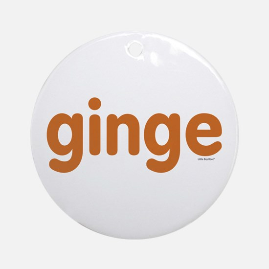 Ginge Ornament (Round)