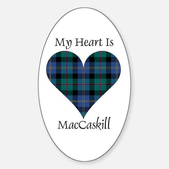 Heart - MacCaskill Sticker (Oval)