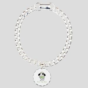 Personalized Irish Puppy Charm Bracelet, One Charm