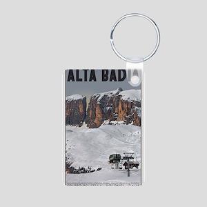 Alta Badia Aluminum Photo Keychain