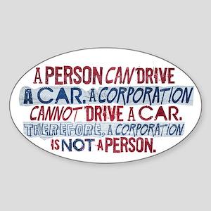 Corporate Personhood Oval Sticker