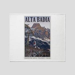 Alta Badia Gondola Throw Blanket