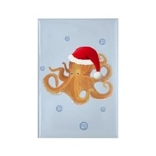 Christmas - Octopus Rectangle Magnet