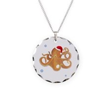 Christmas - Octopus Necklace Circle Charm