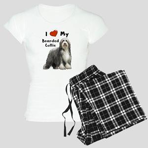 I Love My Bearded Collie Women's Light Pajamas