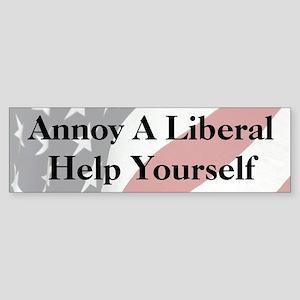 Annoy A Liberal Sticker (Bumper)