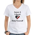Annoy A Liberal Women's V-Neck T-Shirt