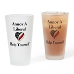 Annoy A Liberal Drinking Glass