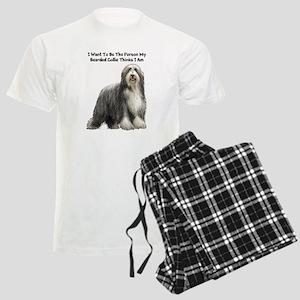 Bearded Collie Men's Light Pajamas