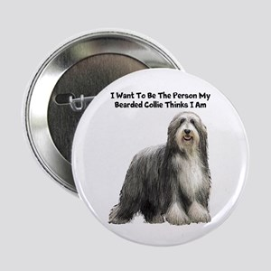"""Bearded Collie 2.25"""" Button"""