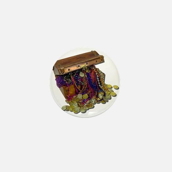 Colorful Pirate Treasure Gold Mini Button