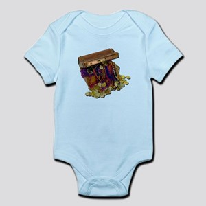 Colorful Pirate Treasure Gold Infant Bodysuit
