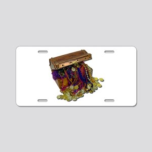 Colorful Pirate Treasure Gold Aluminum License Pla