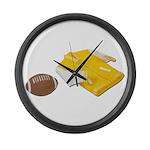 Football Letterman Jacket Large Wall Clock