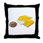 Football Letterman Jacket Throw Pillow