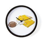 Football Letterman Jacket Wall Clock