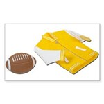 Football Letterman Jacket Sticker (Rectangle 10 pk