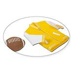 Football Letterman Jacket Sticker (Oval 10 pk)