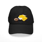 Football Letterman Jacket Black Cap
