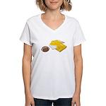 Football Letterman Jacket Women's V-Neck T-Shirt
