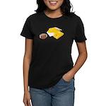 Football Letterman Jacket Women's Dark T-Shirt