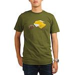 Football Letterman Jacket Organic Men's T-Shirt (d