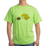Football Letterman Jacket Green T-Shirt