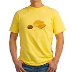 Football Letterman Jacket Yellow T-Shirt