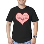 Geek Valentine Men's Fitted T-Shirt (dark)