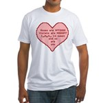 Geek Valentine Fitted T-Shirt