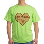 Geek Valentine Green T-Shirt