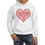 Geek Valentine Hooded Sweatshirt