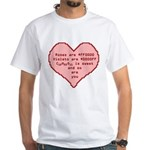 Geek Valentine White T-Shirt
