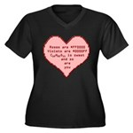 Geek Valentine Women's Plus Size V-Neck Dark T-Shi