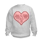Geek Valentine Kids Sweatshirt