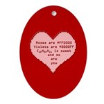 Geek Valentine Ornament (Oval)