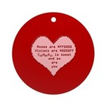 Geek Valentine Ornament (Round)