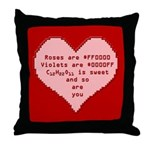 Geek Valentine Throw Pillow