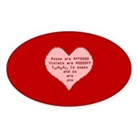 Geek Valentine Sticker (Oval 50 pk)