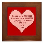 Geek Valentine Framed Tile