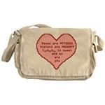 Geek Valentine Messenger Bag