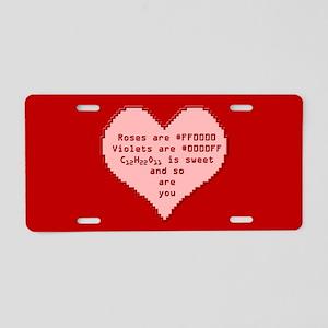 Geek Valentine Aluminum License Plate