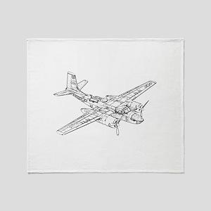 Douglas B-26 Invader Throw Blanket