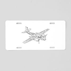 Douglas B-26 Invader Aluminum License Plate