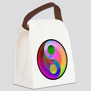 color radial yin-yang Canvas Lunch Bag