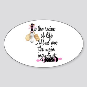 Mom Ingredient Sticker (Oval)