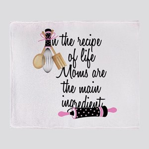 Mom Ingredient Throw Blanket