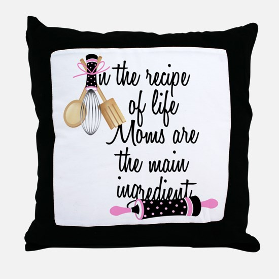 Mom Ingredient Throw Pillow
